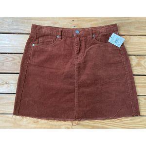 NWT BLANK NYC Corduroy Mini Skirt Size 28 Rust